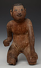 Early 19th Century, Early Mandalay, Burmese Wooden Sitting Boy