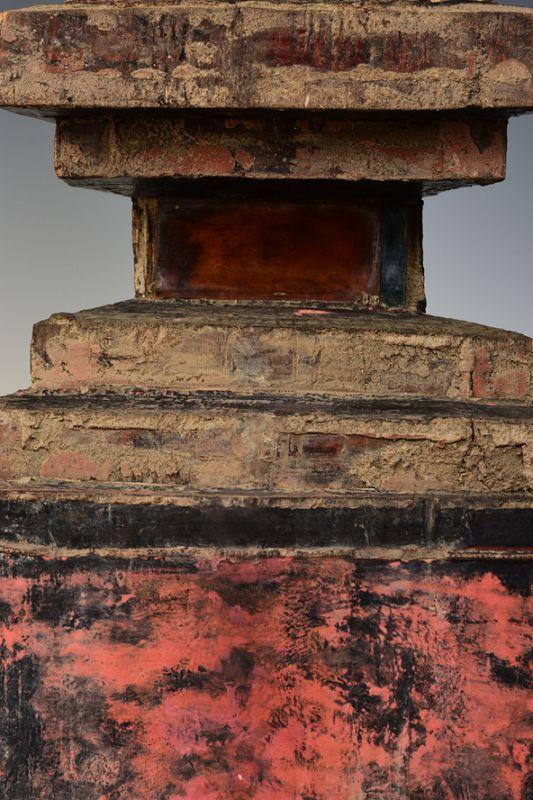 Early 19th Century, Tai Yai Burmese Wooden Seated Buddha