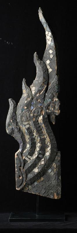 18th Century, Thai Wooden Naga Finial (Chofa)