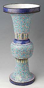 Big Chinese Painted Enamel Vase, Huafalang