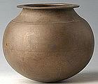19th Century, Burmese Bronze Jar