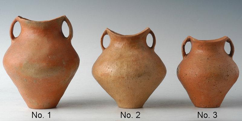 Small Chinese Siwa Culture Pottery Amphoras