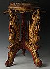 19th Century, Tai Yai Burmese Wooden Offering Tray