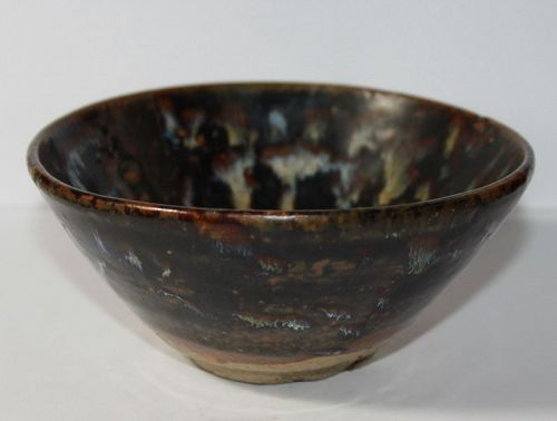 A Cizhou ware bowl with tortoishell glaze. Southern Song Dynasty.