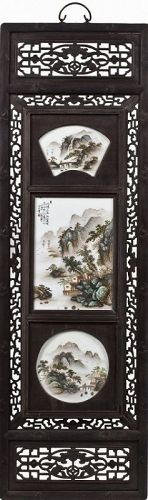 Chinese Porcelain Screen Panel