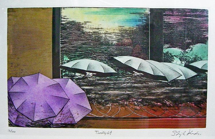 Shigeki Kuroda Etching with Aquatint Japanese Modern