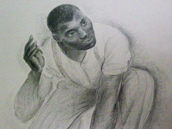 G. Ralph Smith African American Man WPA Drawing