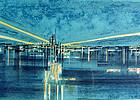 Richard Florsheim 'Airport' Color Lithograph 1964