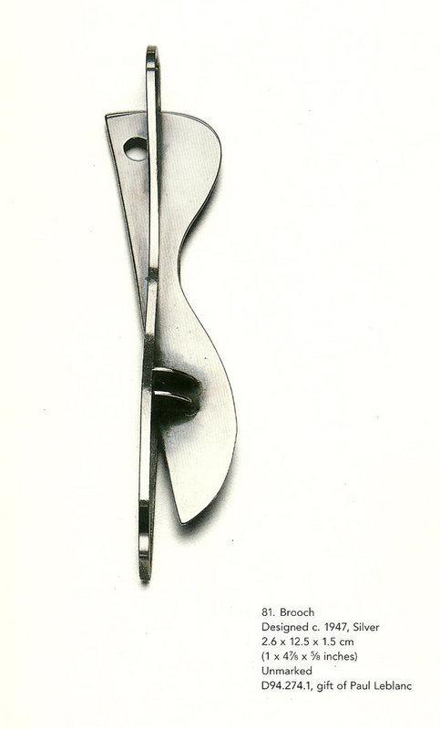 Ed Wiener Exceptional Modernist Large Sterling Brooch
