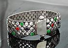 Hans Hansen Modernist Sterling Stones Bracelet Denmark