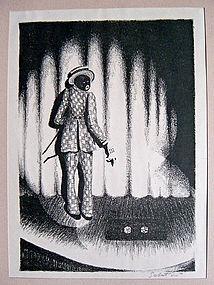 Raphael Sabatini Black Face Cabaret Print 1920's