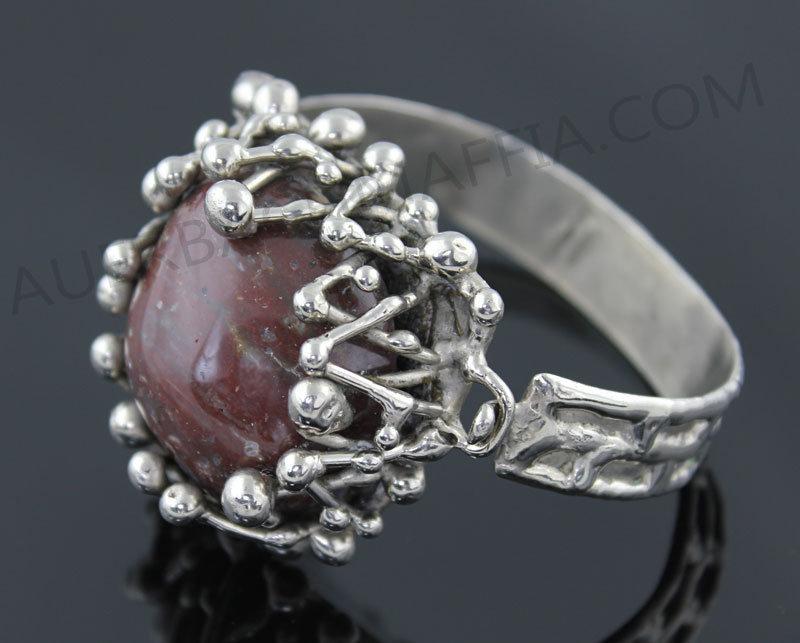 Pal Kepenyes Modernist Silver Hinged Bracelet Mexico