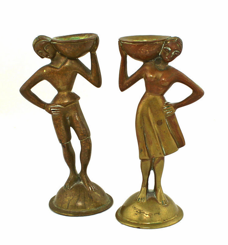 A.G.BUNGE Deco Bronze Figures Germany 1930