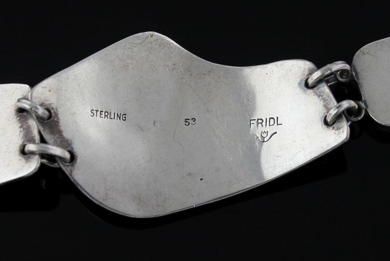 Fridl Blumenthal Modernist Sterling Bracelet