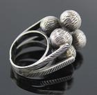 Rachel Gera Modernist Sterling Silver Ring Israel