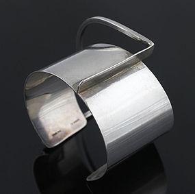 Ed Wiener Modernist Sterling Architectural Bracelet