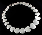 Hans Hansen Modernist Sterling Heart Necklace Denmark