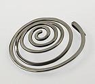 Ed Wiener Modernist Sterling Spiral Pendant 1950