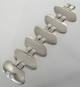 Idella La Vista Modernist Sterling Bracelet - 1950 - New York