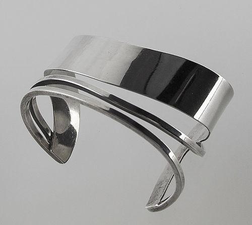 Idella LaVista Modernist Sterling Silver Cuff Bracelet