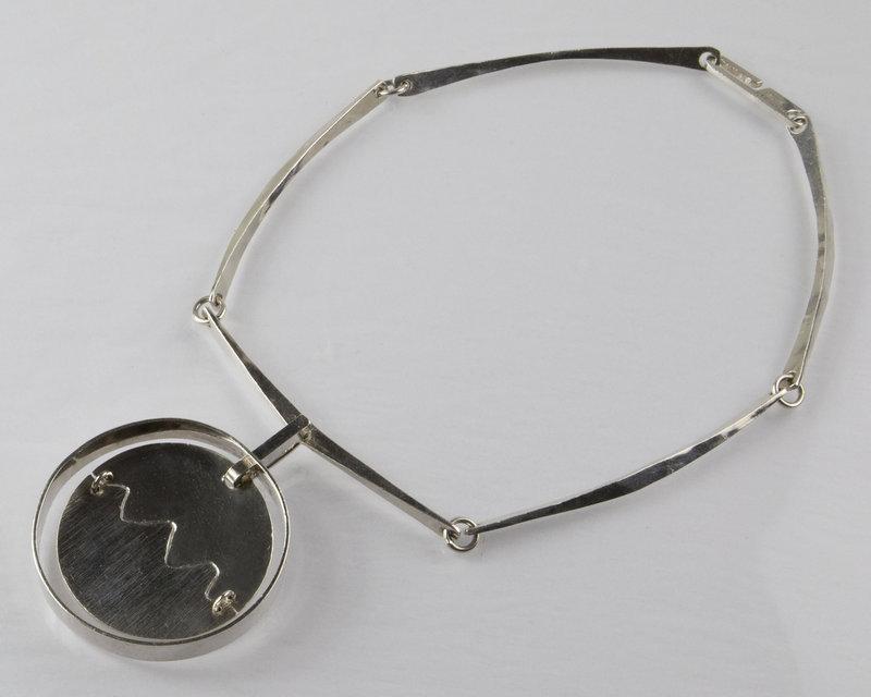 Soren Borup Modernist Sterling Necklace - Denmark - 1960 - 1970