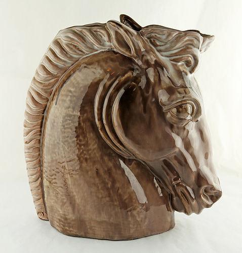 Stangl Large Horse Head Vase Mid Century Terra Rose