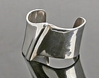 Brusca - Dante Modernist Sterling Wave Cuff Bracelet