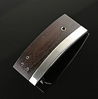 Sigi Pineda Modernist Sterling and Ebony Buckle Taxco Mexico