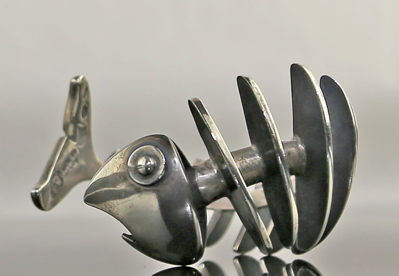 Antonio Pineda Modernist Sterling Fish Bracelet Taxco