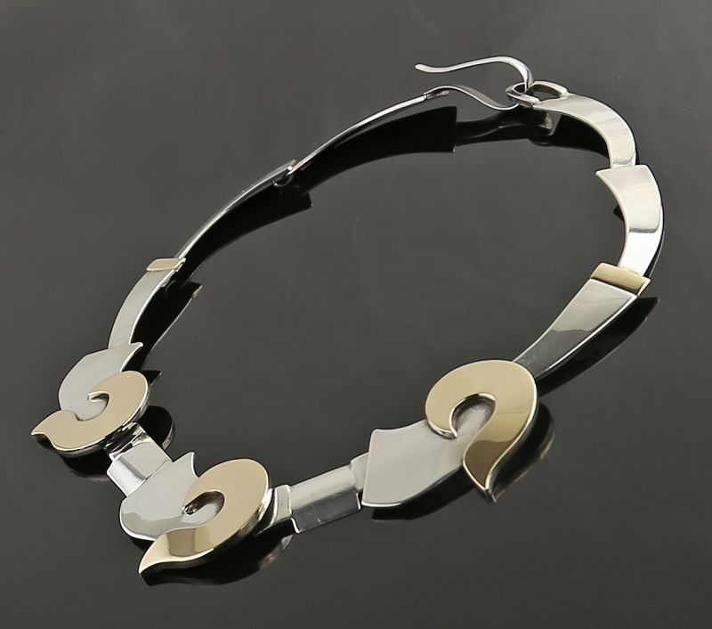 Anne Forbes Post Modernist Sterling Necklace Taos