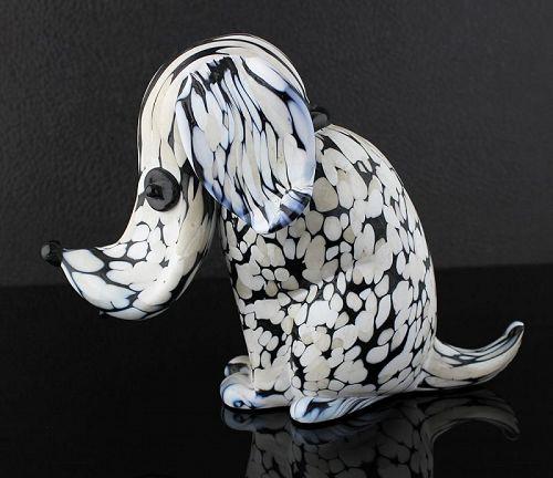 Archimede Seguso Dog Murano Italy - 1950's - Modernist