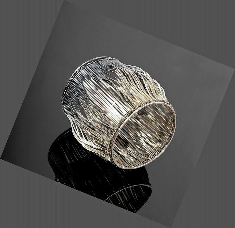Paul Lobel Modernist Sterling Silver Cuff Bracelet 1950s