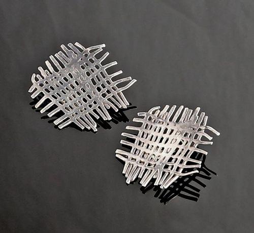 Hans Appenzeller Sterling Modernist Earrings Dutch Designer 1970s