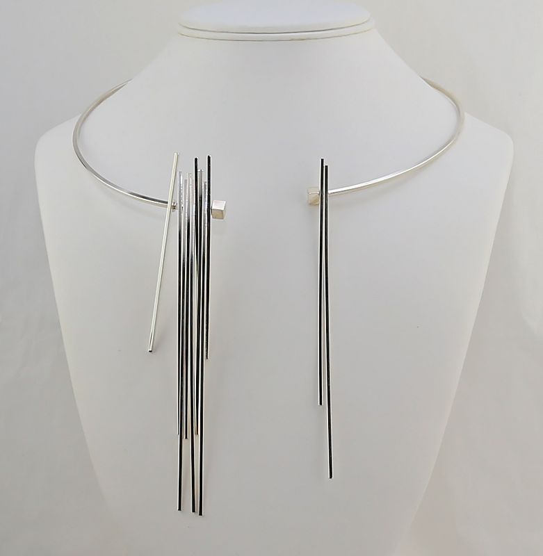 Betty Cooke Sterling Silver Kinetic Necklace