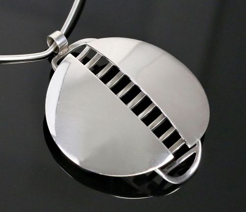 David Andersen Modernist Sterling Necklace Norway