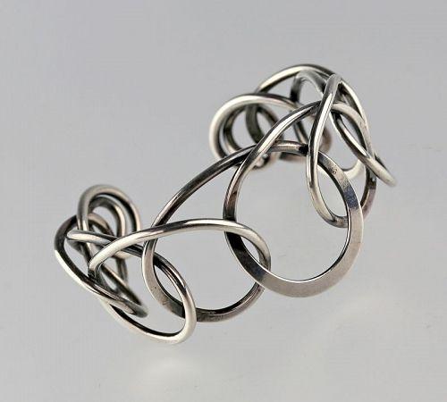 Henry Steig Modernist Sterling Bracelet 1950s Design