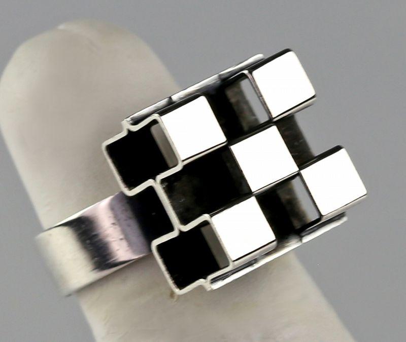 Elis Kauppi, Kupittaan Kulta Modernist Sterling Ring Finland 1970