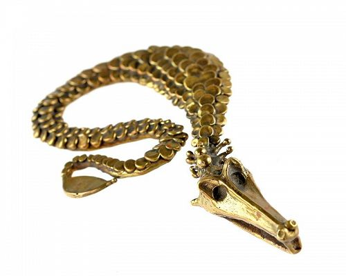 Carl Tasha Modernist Serpent Pendant 1970s Exceptional