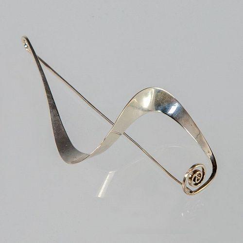 Ronald Pearson Modernist Sterling Silver Brooch