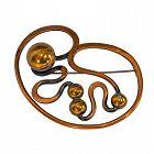 Art Smith Modernist Copper Brooch