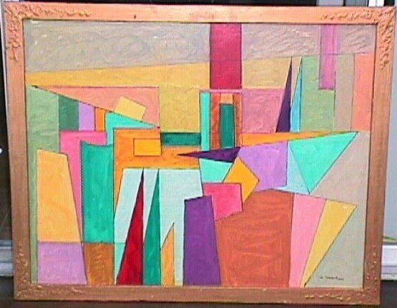 Joseph Meierhans Bucks County, Pa.- Modernist Oil/Board