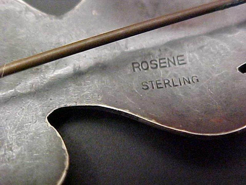 Rosene Modernist Sterling Mid Century Brooch