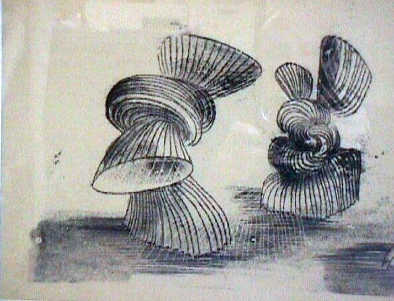 Harry Bertoia Monotype Mid Century