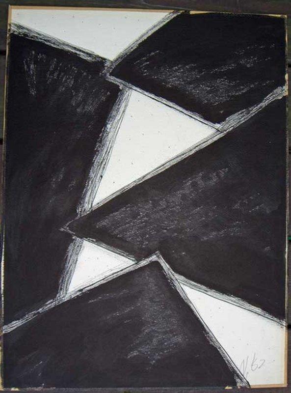 Lloyd Ray Ney -  New Hope, Pa. Modernist - Watercolor
