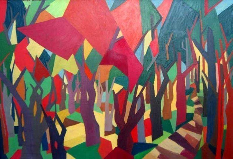 Modernist Painting - Gloria Goodman Bernstein American