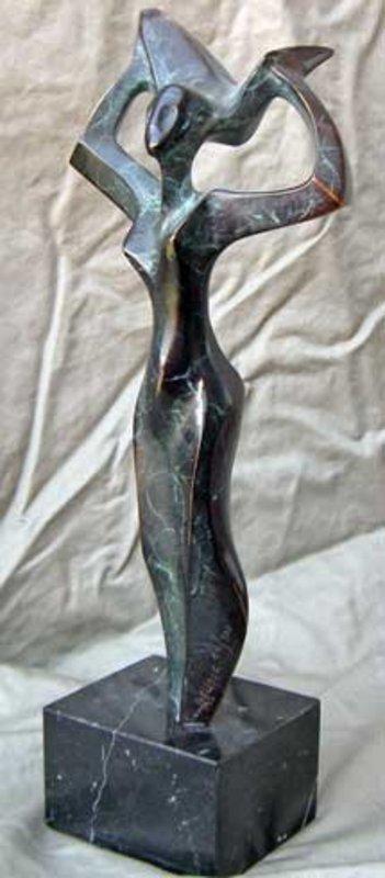 POBLADOR   Bronze Abstract Modernist Sculpture