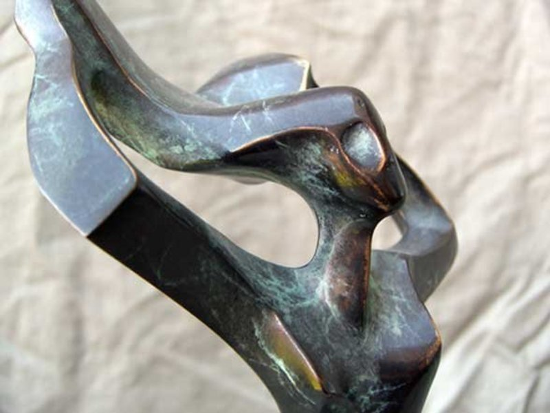 POBLADOR   Bronze Abstract Modernist Sculpture