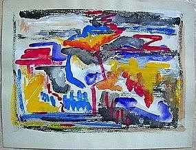 Joseph Meierhans Modernist Abstract Bucks County, Pa.