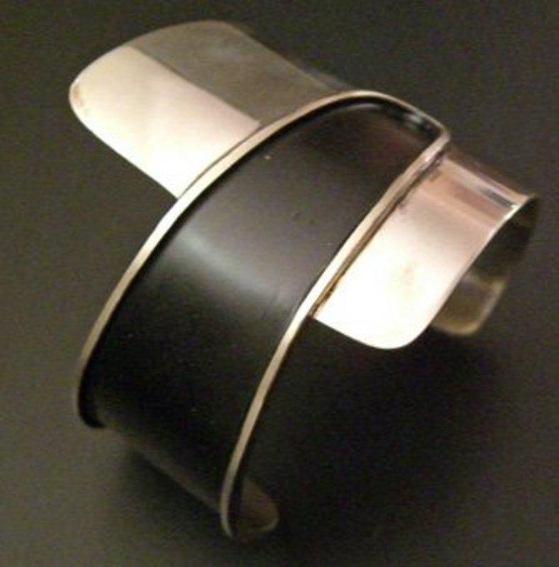 Ed Wiener American Modernist Sterling Mid Century Cuff