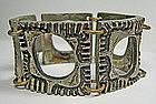 Robert Larin Modernist Pewter Bracelet - Canada